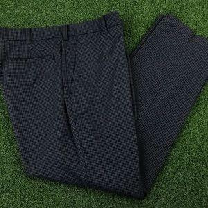 Nike Mens Black Gingham Flat Front Polyester